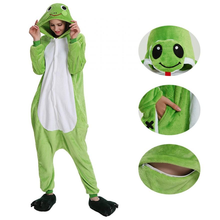 Frog Kigurumi Animal Onesie Pajama Costumes for Adult