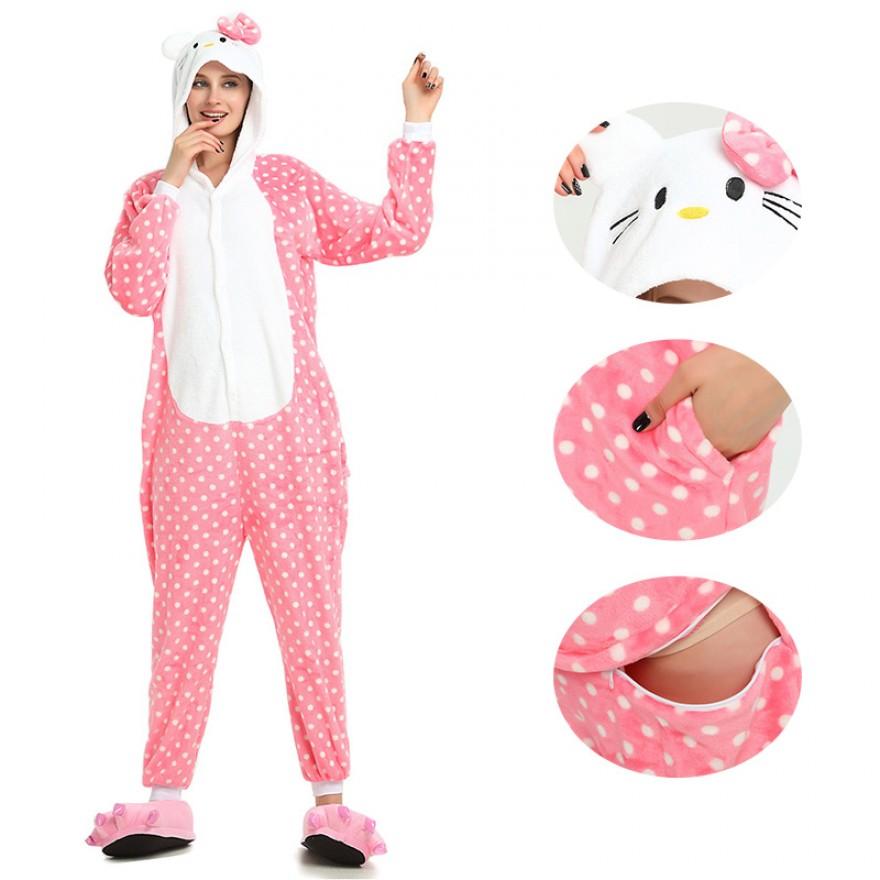 Pink Dot Hello Kitty Kigurumi