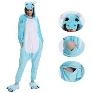 Blue Hippo Kigurumi