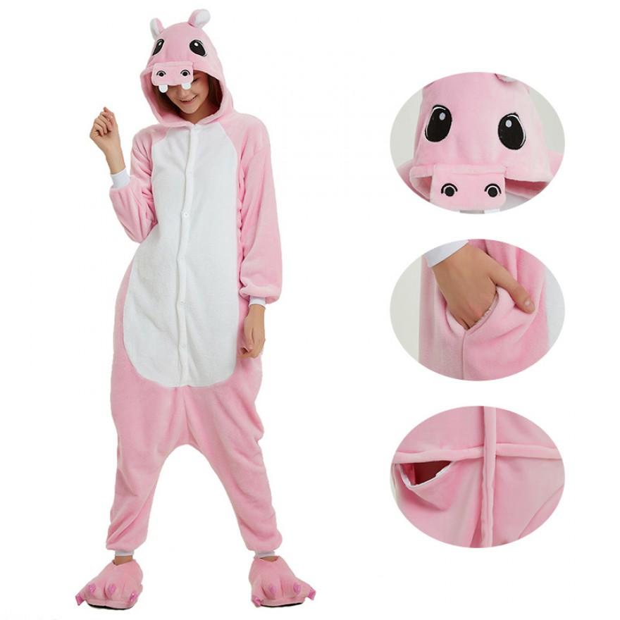 Pink Hippo Kigurumi