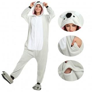 Black Koala Kigurumi Animal Onesie Pajama Costumes for Adult