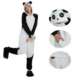 Black White Kung Fu Panda Kigurumi