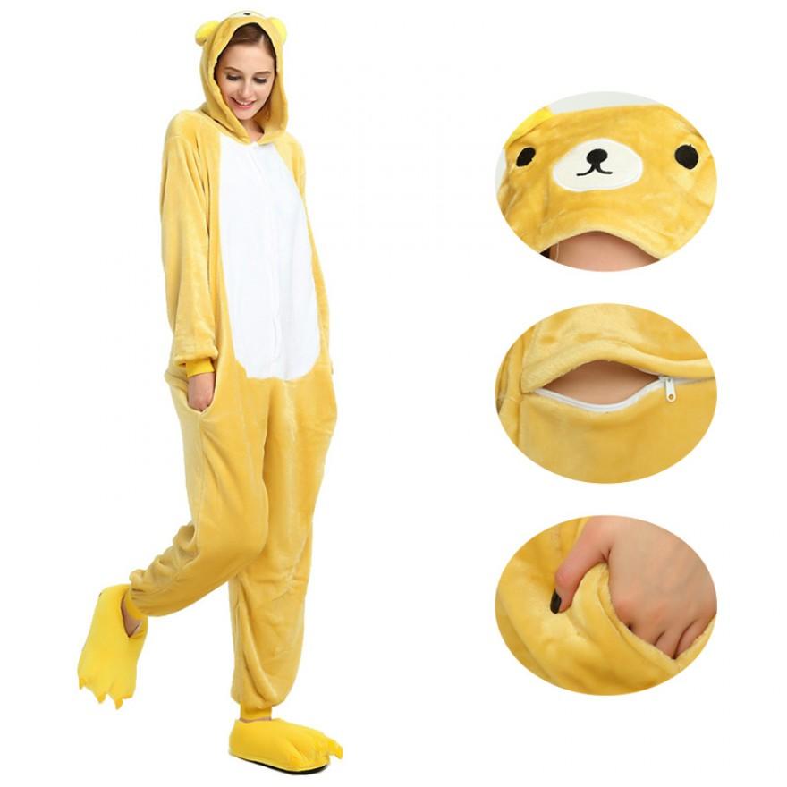Rilakkuma Kigurumi Animal Onesie Pajama Costumes for Adult