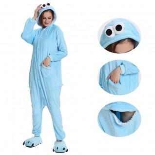 Blue Sesame Street Elmo Kigurumi Onesies Pajamas Animal Onesies for Adult