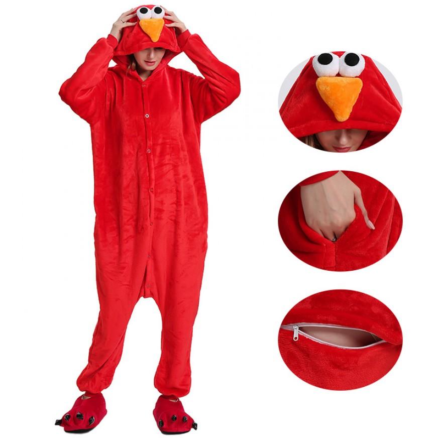 Red Sesame Street Elmo Kigurumi