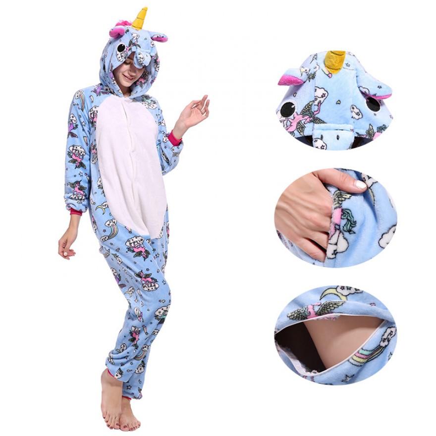 Belly Unicorn Kigurumi Onesies Pajamas Animal Onesies for Adult