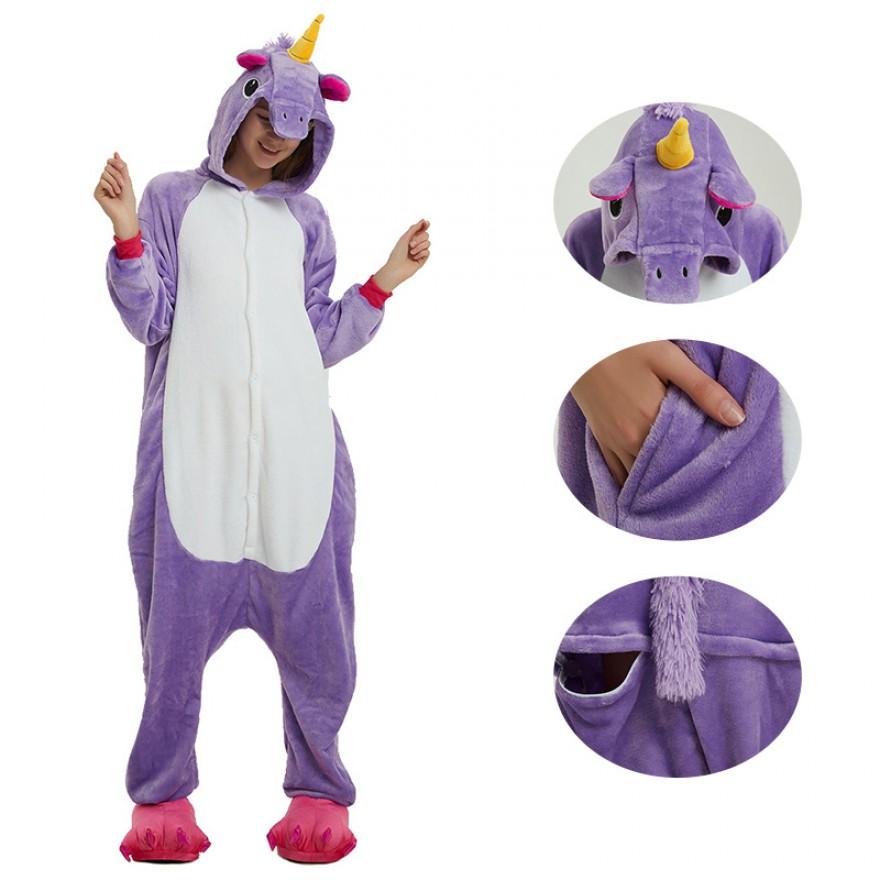 Light Purple Unicorn Kigurumi