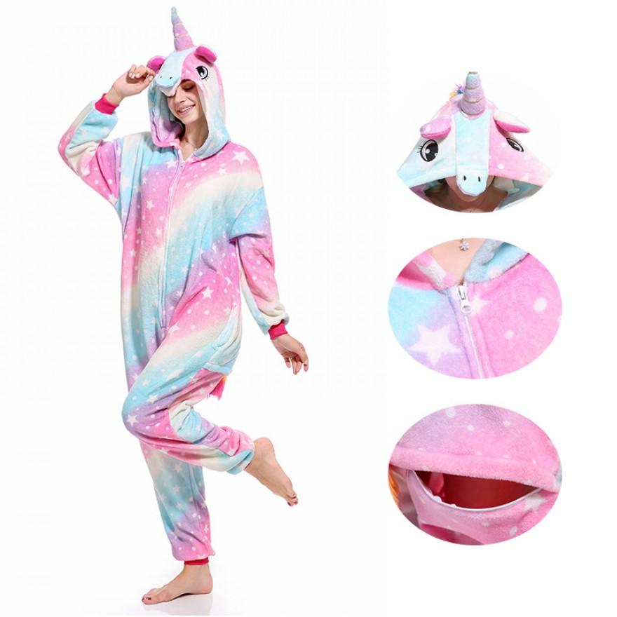 Starry Sky Unicorn Onesie Pajamas Animal Onesies for Adult