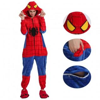 Spiderman Kigurumi Onesies Pajamas Animal Onesies for Adult
