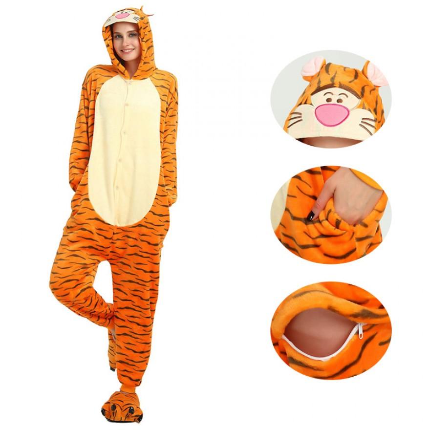 Tiger Kigurumi Onesies Pajamas Animal Onesies for Adult