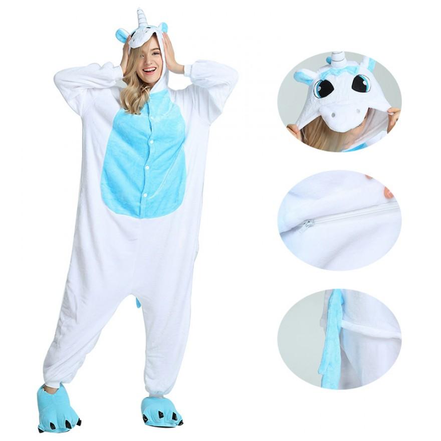 a6ed45e8fbe9 Blue Unicorn Kigurumi. Blue Unicorn Kigurumi Onesie Pajamas Animal Costumes  ...