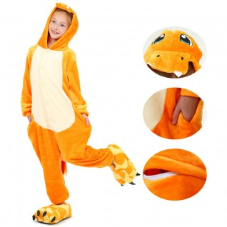 Kids Fire Dragon Kigurumi