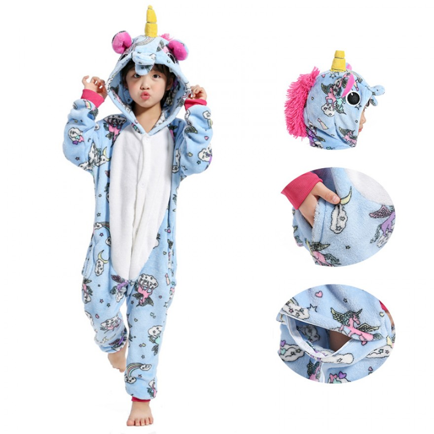Kids Belly Unicorn Kigurumi