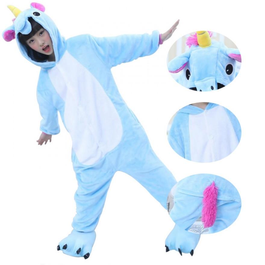 Kids Unicorn Blue Kigurumi
