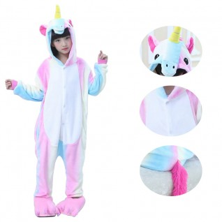 Kids Rainbow Unicorn Kigurumi
