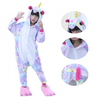 Kids Dreaming Star Unicorn Kigurumi