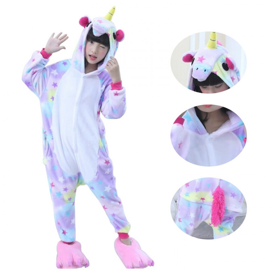 Kids Dreaming Star Unicorn Kigurumi