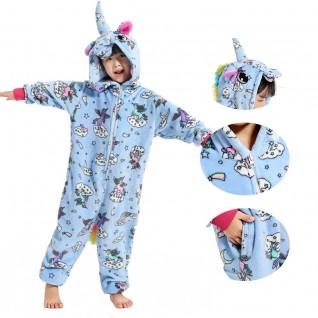 Kids Zipper Unicorn Kigurumi