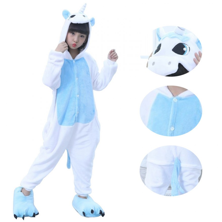 Kids Blue Unicorn Kigurumi