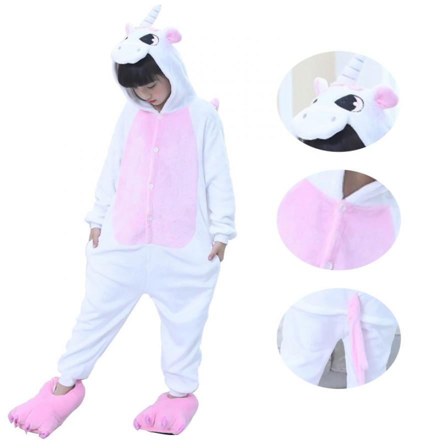 Kids Pink Unicorn Kigurumi