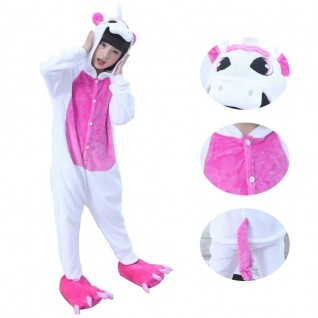 Kids Rose Red Unicorn Kigurumi