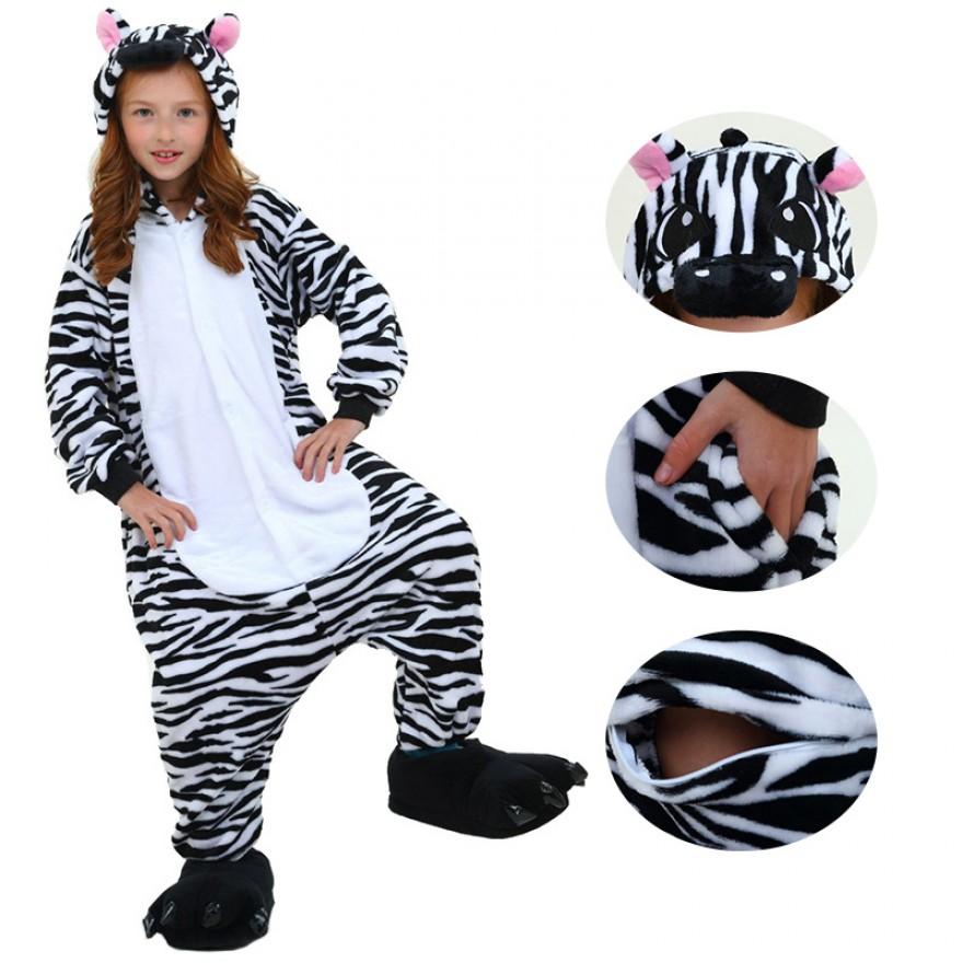 Zebra Kids Onesies Kigurumi Onesies Pajamas Animal Costume