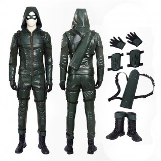 Arrow Oliver Queen Costume Green Arrow Season 5 Cosplay Suits