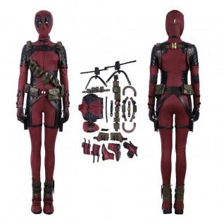 Womens Deadpool Costume Luxury Suit Lady Deadpool Cosplay Costumes