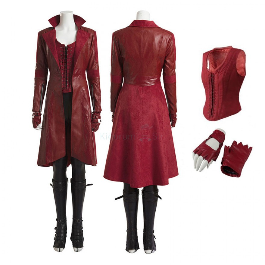 Scarlet Witch Costume Wanda Maximoff Cosplay Costumes