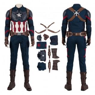 Captain America Costumes Avengers-Endgame Steve Rogers Cosplay
