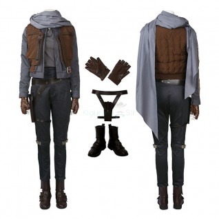 Jyn Erso Costume Rogue One A Star Wars Story Cosplay Deluxe Outfit