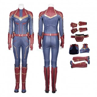 Captain Marvel Costume Carol Danvers Cosplay Suit Type B
