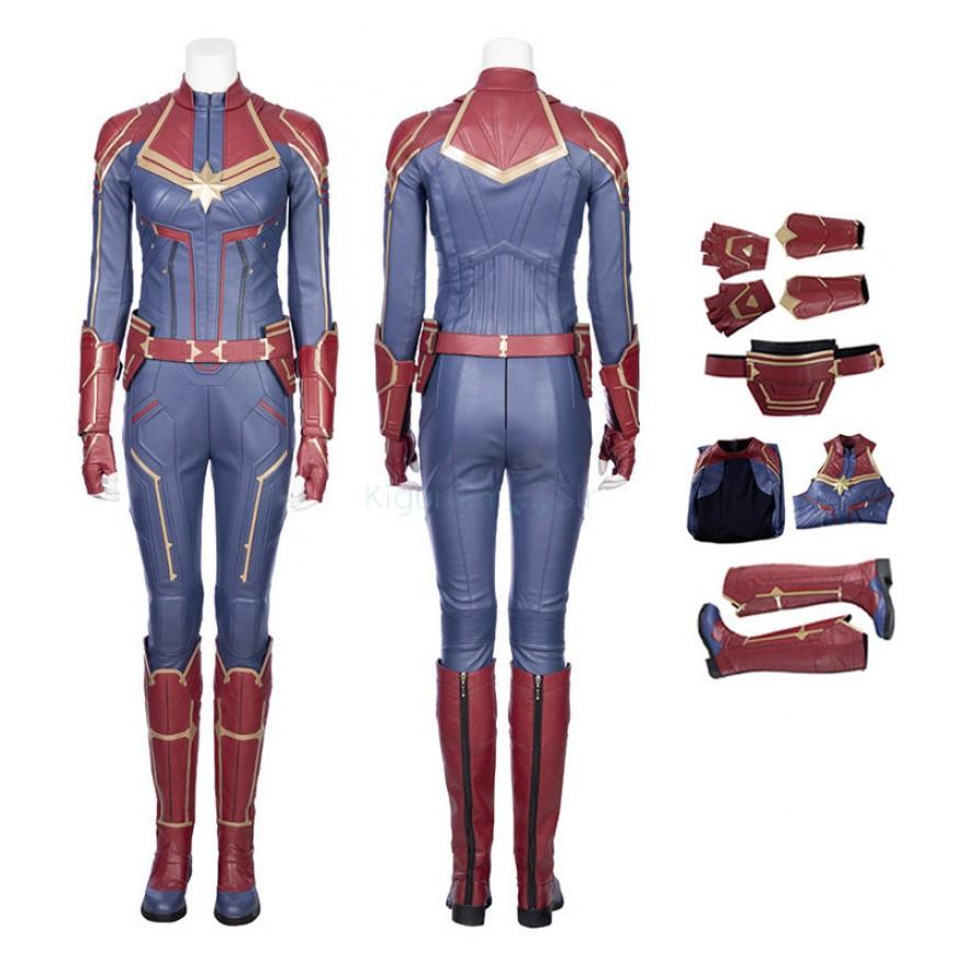 Captain Marvel Costume Carol Danvers Cosplay Suit Type B