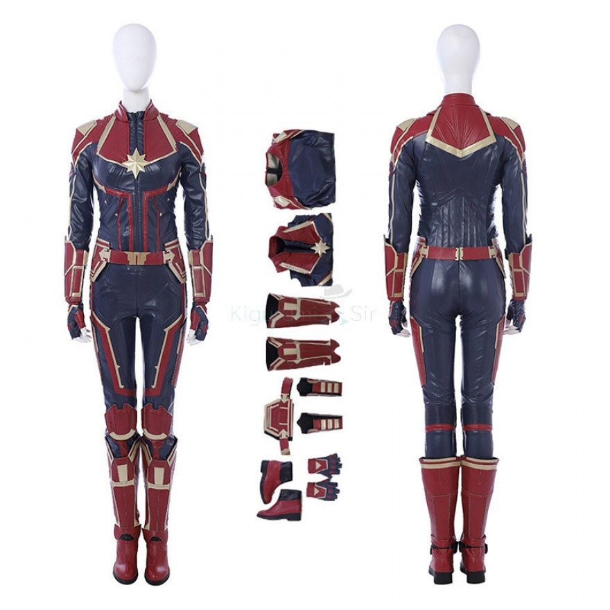 Captain Marvel Costume Carol Danvers Cosplay Suit Type A