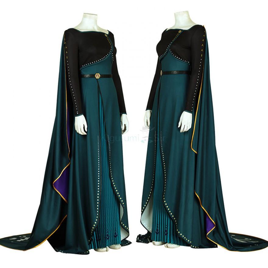 Anna Queen Costume Frozen 2 Cosplay Suits