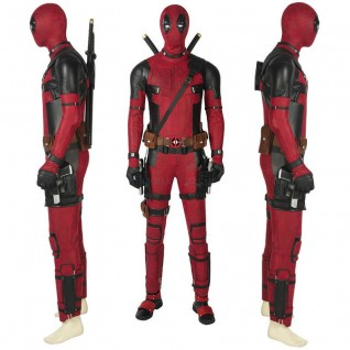 Deadpool Cosplay Costume Full Set Deluxe Outfit