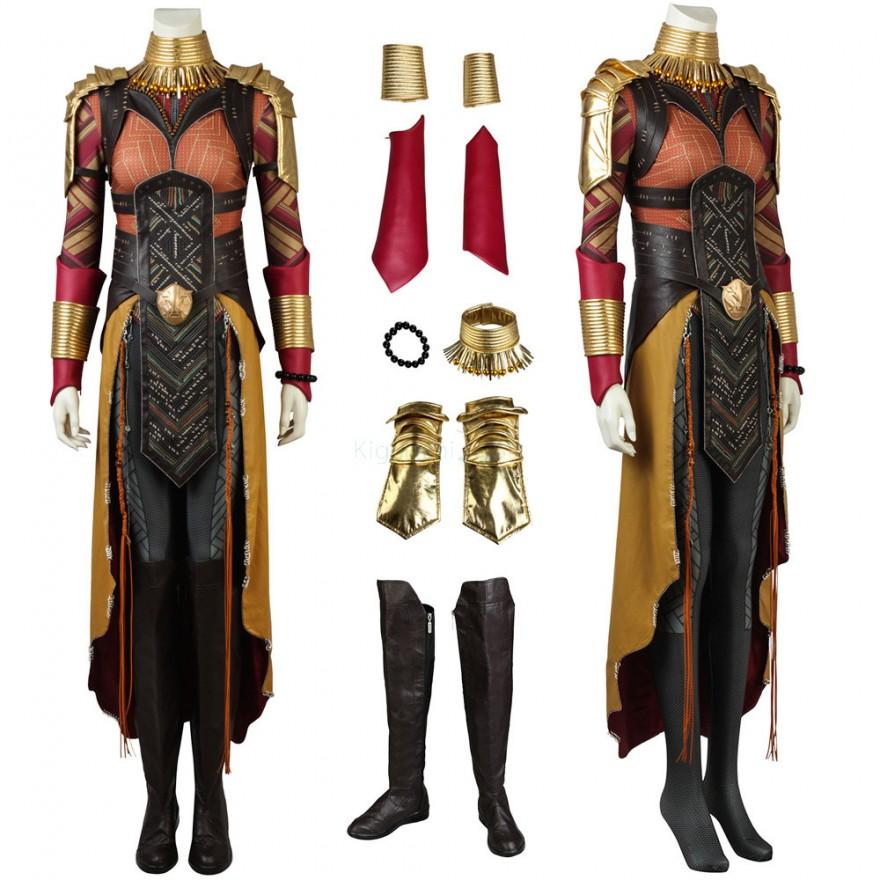 Okoye Wakanda General Costume Black Panther Cosplay Luxury Suit
