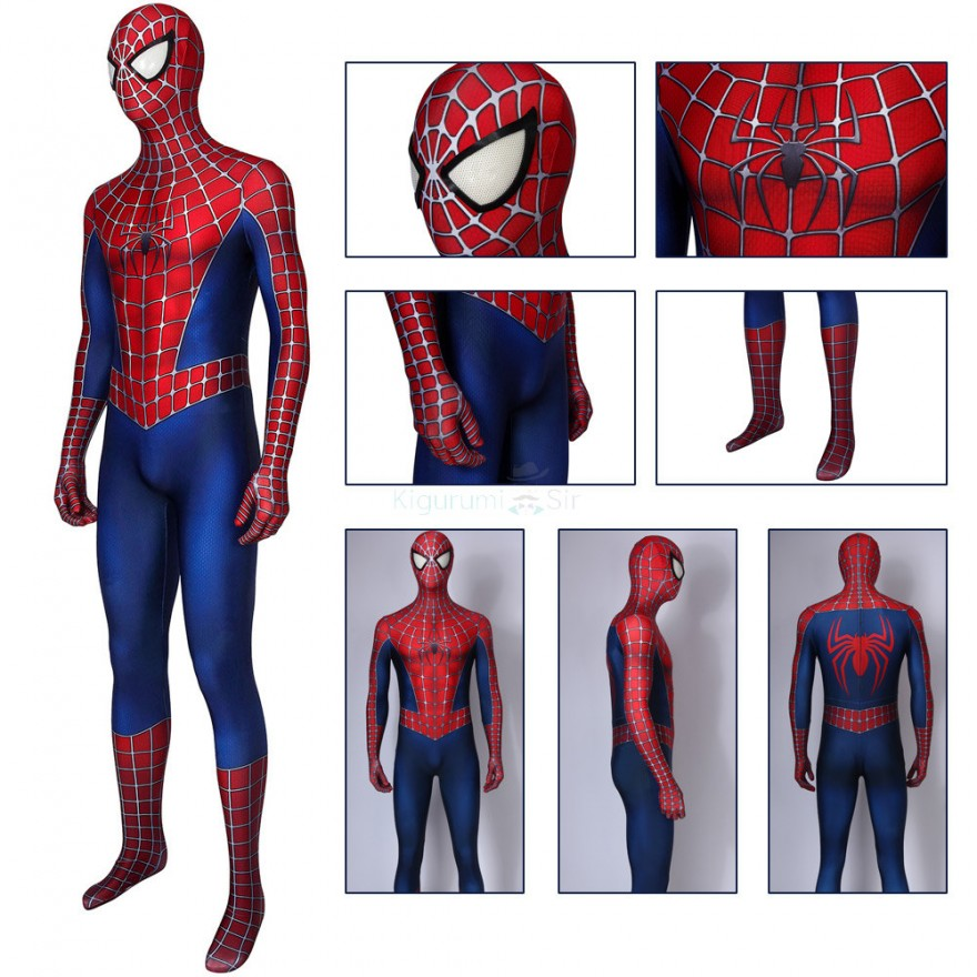 Classic Spider Man Costume Spider-Man 2 Cosplay Suits for Adult