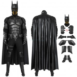 2021 Movie The Batman Bruce Wayne Robert Pattinson Cosplay Costume