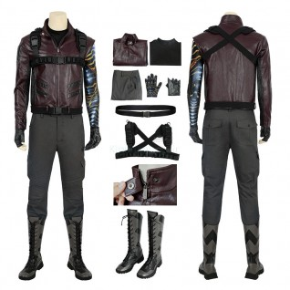 Bucky Barnes Costume The Falcon and the Winter Soldier Cosplay Costume