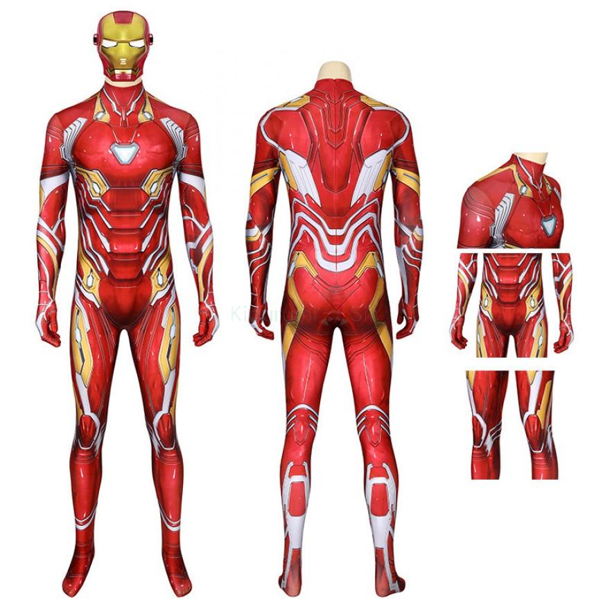 Avengers Tony Stark Cosplay Costume Iron Man Jumpsuit