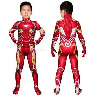 Kids Iron Man Jumpsuit The Avengers Tony Stark Cosplay Costume