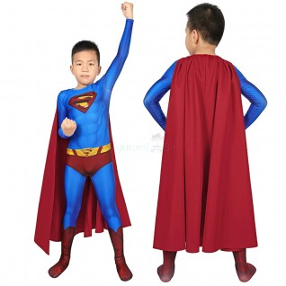Kids Superman Clark Kent Jumpsuit Superman Returns Cosplay Costume