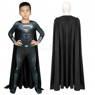 Kids Superman Jumpsuit Justice League Superman Clark Kent Cosplay Costume