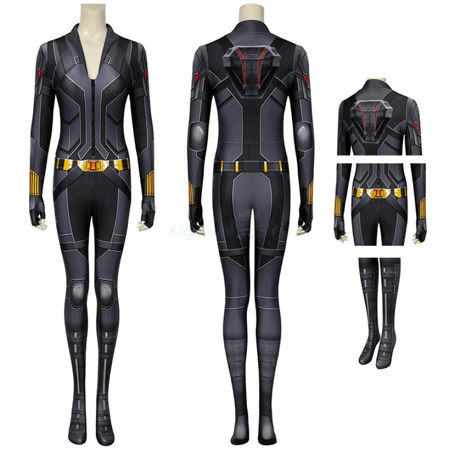 Black Widow Cosplay Costume Natasha Romanoff Jumpsuit
