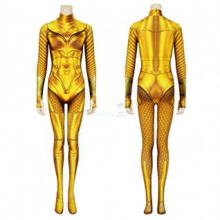 Diana Prince Jumpsuit Wonder Woman 1984 Golden Cosplay Costume
