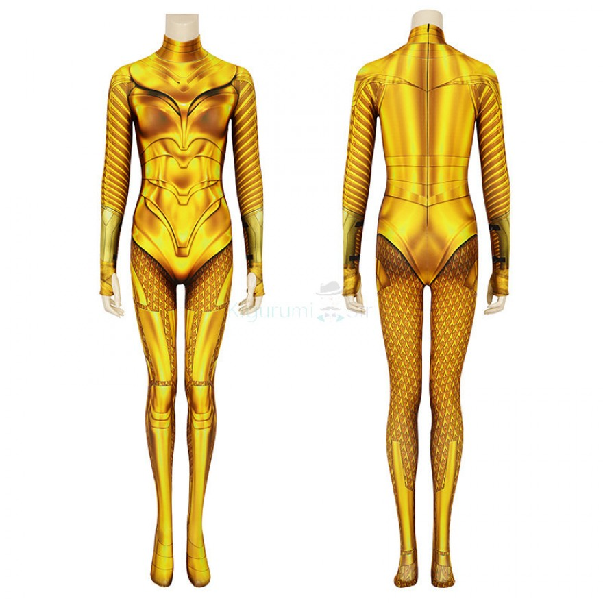 Diana Prince Jumpsuit Wonder Woman 1984 Golden Cosplay Costume