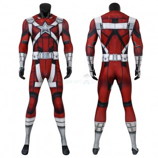 Red Guardian Jumpsuit Black Widow Cosplay Costume