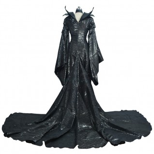 Maleficent Costume Disney Black Witch Angelina Jolie Cosplay Costume