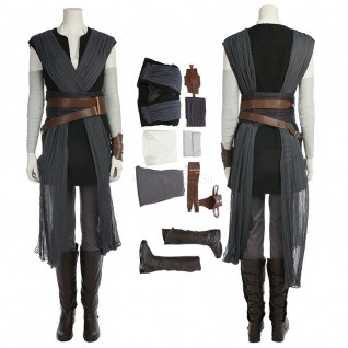 Star Wars 8 Rey Cosplay Costume Suits